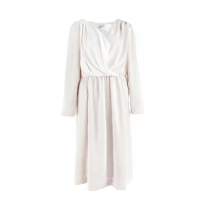 drapery shirring dress cream